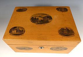 Washington DC Scenes Victorian Mauchline Ware Box