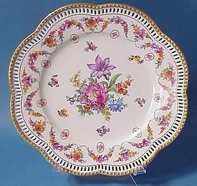 """Carl Schumann """"Dresden Flowers"""" Plate"""