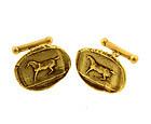 Kieselstein-Cord 18K Ancient Greek Coin Horse Cufflinks