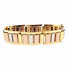 French Retro 18K Multicolored Gold Bracelet