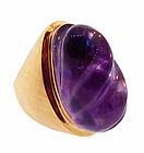 Burle Marx 18K Gold Amethyst Ring