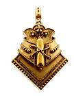 Victorian Etruscan Revival 18K Yellow Gold Fancy Locket