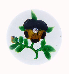 Antique Baccarat Pansy Glass Paperweight