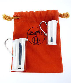 2-pc Hermes Sterling Silver Jigger Set