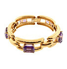 Retro Tiffany & Co. 14K Yellow Gold & Amethyst Bracelet