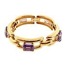 Retro Tiffany & Co. 14K Yellow Gold & Amethyst Bracelet