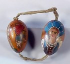 Imperial Russian Painted Wood Easter Eggs
