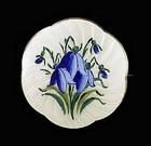 Guilloche & Painted Enamel Sterling Silver Brooch