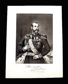 Czar Alexander II Portrait Engraving