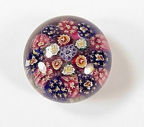 Bohemian Concentric Millefiori Glass Paperweight