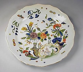 Early French Faience Floral Plate