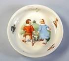 Victorian German Porcelain Baby's Nursery Rhyme Dish