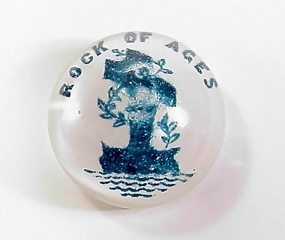South Jersey �Rock of Ages� Frit Glass Paperweight