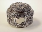 Gorham Sterling Silver Repousse Powder Box