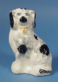 Victorian Staffordshire Spaniel Dog Figurine
