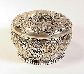 Gorham Victorian Sterling Silver Dresser Powder Box