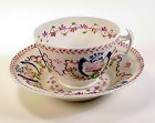 English Pink Lustre Porcelain Cup & Saucer