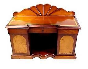 Victorian Inlaid Mahogany Miniature Sideboard Tea Caddy