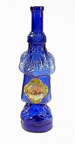 Vintage 1920s Cobalt Glass Belsnickle Christmas Bottle