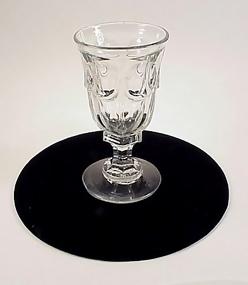 Early American Pattern Glass Flint COLONIAL Ale Goblet