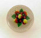 New England Glass Co. Mixed Fruit Glass Paperweight