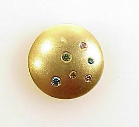 Etienne Perret 18K Gold Colored Diamond LENTIL Pendant