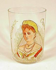 Tsarina Alexandra Feodorovna Paris Visit Souvenir Glass