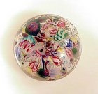 Antique NEGC Scrambled Glass Paperweight