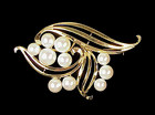 Mikimoto 14K Yellow Gold & Cultured Pearl Brooch
