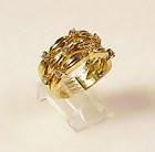 Tiffany & Co. 18K Gold & 1/2 Carat Diamond Ring