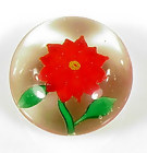 Antique Chinese Poinsettia Glass Paperweight