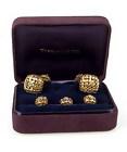 Tiffany & Co. 18K Gold & Diamond Basketweave Dress Set