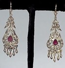 Georgian Gold, Diamond & Amethyst Earrings