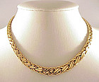 Tiffany & Co. 14K Yellow Gold Graduated Braid Necklace