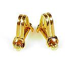 Vintage French 18K Gold Stirrup Cufflinks