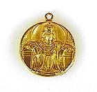 Art Nouveau 14K Gold Byzantine Princess Locket