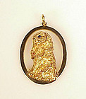 William Ruser 14K Gold & Sapphire Cocker Spaniel Charm