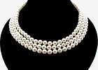 Mikimoto Triple-Strand Pearl Necklace 18K Gold Clasp