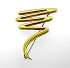 Tiffany & Co. Paloma Picasso 18K Gold SCRIBBLE Brooch