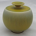 BERNDT FRIBERG VASE WITH UNUSUAL GLAZE