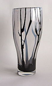 "Superior ""Trees in Mist"" Vase by Vicke Lindstrand"