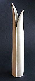 Tall White Endiv Vase designed by Stig Lindberg