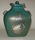 ARGENTA COVERED URN WITH MERMAID