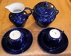 Nice franch sevres Royal blue tea set