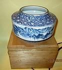 Beautiful Japanese Studio vase Blue and white