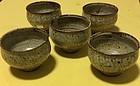 Japanese set 5 Mashiko Shimaoka Tatsuzo tea cup Mingei