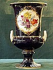 Beautiful Meissen blue & flower 11in vase