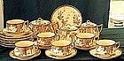 HP Japanese 24 pc Satsuma tea set wistaria