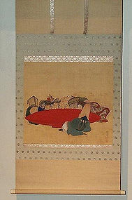 Japanese painting scroll 7 lucky God