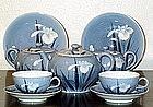 Nice Japanese hirado tea set Meiji Era